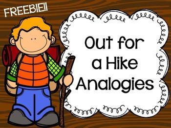 {Freebie} Out for a Hike Analogies