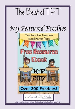 Freebie Page from the TPT Social Marketplace Ebook