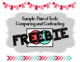 Freebie: Paired Text: Comparing and Contrasting