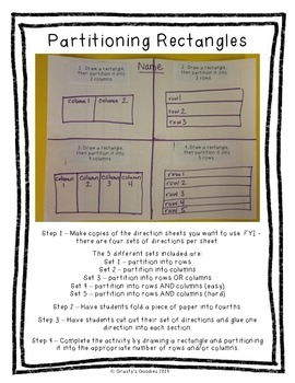 {Freebie} Partitioning Rectangles: An Introduction Activity