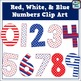 {Freebie} Patriotic Number Clip Art with Bonus Fireworks!
