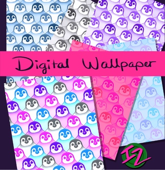 Pinguin Digital Wallpaper