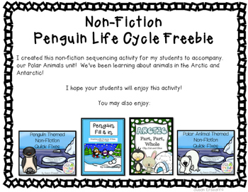 Freebie - Penguin Life Cycle Sequencing