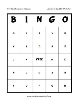 Freebie Phonetic Alphabet 2 Full Bingo Games By Donnette Davis Tpt