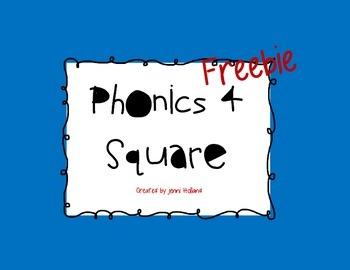 Freebie!  Phonics 4 Square