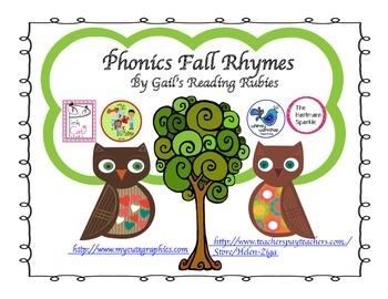 Freebie Phonics Fall Rhymes