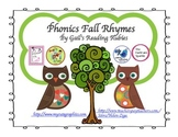 Freebie Phonics Fall Rhymes