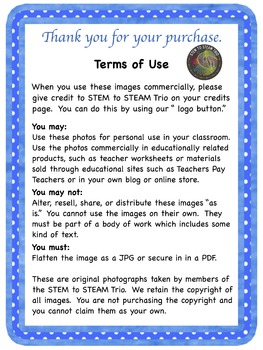 Freebie:  Photographs Sampler from STEM to STEAM Trio