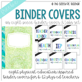 Freebie! Physical Education Binder Cover & Section Headers