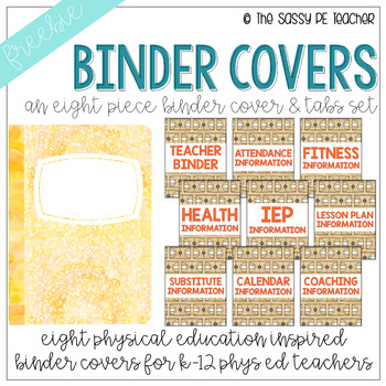 Freebie! Physical Education Binder Cover & Section Headers | Basketball Edition