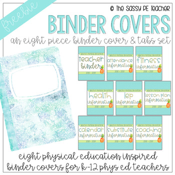 Freebie! Physical Education Binder Cover & Section Headers | Pineapple Edition