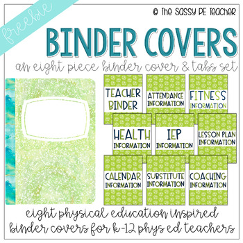 Freebie! Physical Education Binder Cover & Section Headers | Soccer Edition