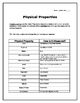 Freebie! Physical Properties Graphic Organizer