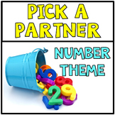 Freebie Pick a Partner Cards Student Group Numbers