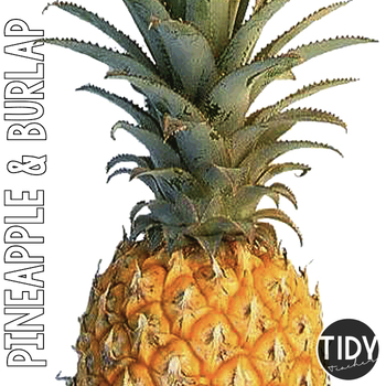Freebie Pineapple and Burlap Clock Numbers!