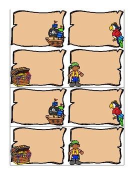 Freebie: Pirate Name Tags