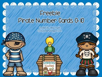 Freebie Pirate Number Cards 0-10