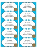 Freebie Pirate themed reader's response labels