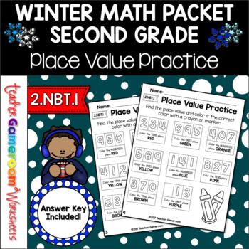 Place Value Practice Worksheets - 2.NBT.1