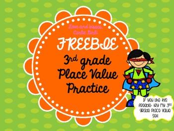 Freebie-Place Value Task Cards