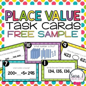 Place Value Task Cards FREE SAMPLE
