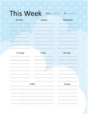 Freebie Planner Pages - Clouds