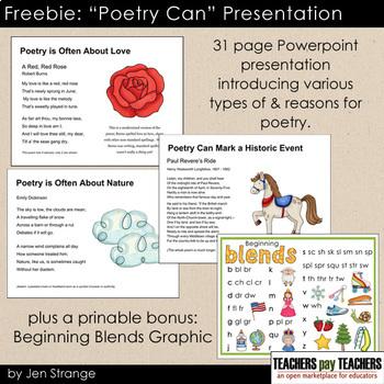 "Freebie: ""Poetry Can"" Presentation"
