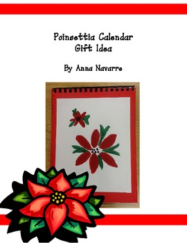 Freebie! Poinsettia Calendar Gift Idea