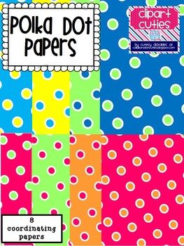 Freebie Polka Dot Papers Pack
