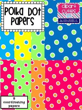 Freebie Polka Dot Papers Pack