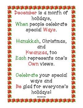 Freebie Poster: December Holidays