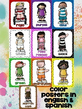 Freebie Posters: Colors - Colores in Engl and Span