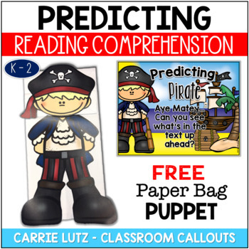 Freebie!  Predicting Pirate Strategy Poster & Paper Bag Puppet