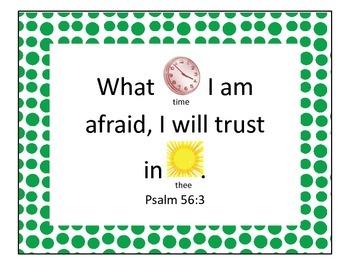 Freebie Preschool Bible Verses