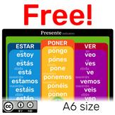 Freebie! Presente irregular de indicativo en español