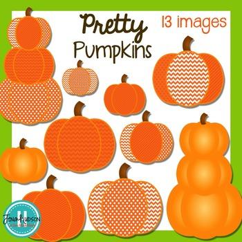 **Freebie** Pretty Pumpkins Clipart