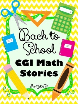 Back to School Math Stories