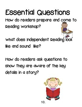 Freebie Preview of Character Study/Intro to Reading Workshop Unit 1