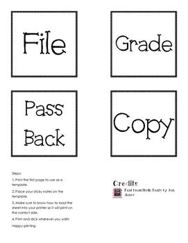 Freebie: Print on Sticky Notes!!