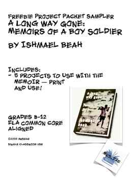 Freebie Project Sampler:  A Long Way Gone by Ishmael Beah