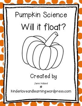 Freebie!  Pumpkins Science: Will it float?
