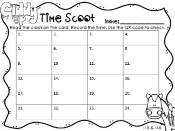 QR Codes: Giddy Up Time Scoot (Cowboy Theme) :15 and :45