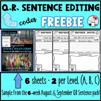 Freebie QR Sentence Editing