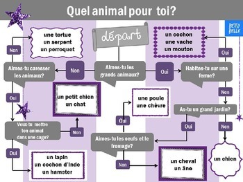 French Freebie! Animal Quiz- which pet for you?