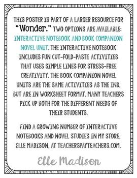 Freebie! R.J. Palacio Quote Art - Author of Wonder, Writing Prompt