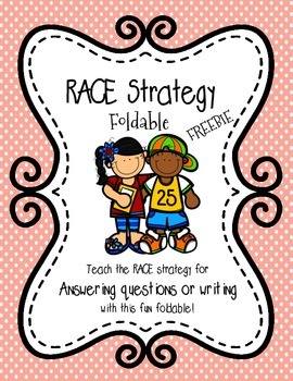 Freebie: RACE Strategy foldable for writing or answering questions