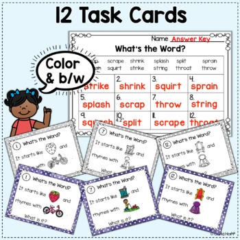 Freebie! RHYME AND REBUS WORD PUZZLES  - 3-Letter Blends