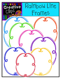 Freebie! Rainbow Line Frames {Creative Clips Digital Clipart}
