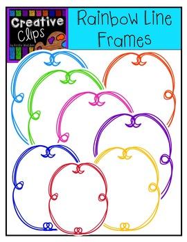 Freebie! Rainbow Line Frames {Creative Clips Digital Clipart}