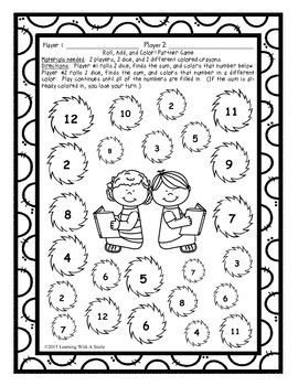 Freebie ~ Read Across America ~ Dr. Seuss ~ Math and Literacy Partner Games